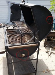 Modifications To My Barrel Grill Needed . Diy Grill, Barbecue Grill, Grilling, Bbq Pit Smoker, Fire Pit Grill, Barbeque Design, Grill Design, Barrel Grill, Barrel Stove