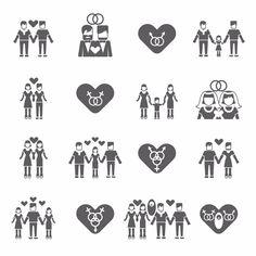 Iconos de la diversidad sexual para representar la base ·humana· en la que se define la moral.
