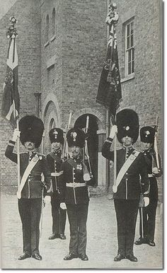 Northumberland Fusiliers colour party, 1906