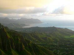 Nothern view from the Haiku stairway, Hawaii