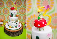 """love the wooden cake stand for a """"natural"""" nature party."""