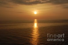 Sunset Over The Adriatic by Linda Prewer #sunset #adiatic