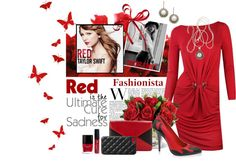 """""""Red"""" by gailschurman on Polyvore"""