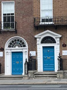 Turquoise Doors, Dublin 2020 Turquoise Door, Door Detail, Entry Way Design, Dublin, Garage Doors, Entryway, Outdoor Decor, Home Decor, Entrance