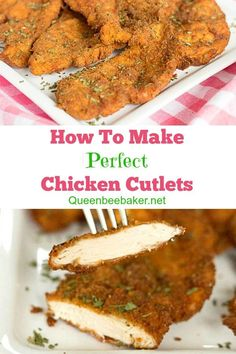 How To Make Perfect Chicken Cutlets   Queenbeebaker.net #chickencutlets #howtomakechickencutlets