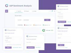 AJP Sentiment Analysis designed by Edyta Kostańska for PQ studio. Connect with them on Dribbble; Sentiment Analysis, Change Your Password, Bar Chart, Web Design, Design Inspiration, Coding, Positivity, Studio, Behance