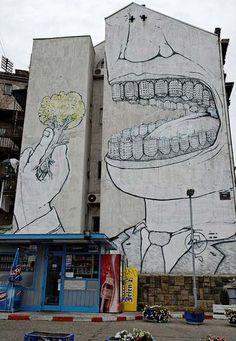Best Graffiti & Amazing Street Art - Blu 2