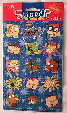 NEW NOS Rugrats Nickelodeon 1995 Stickers American Greetings 4 Sheets 1 Package