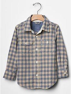 Gingham denim shirt | GAP