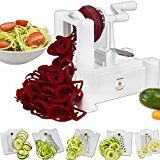 Brieftons Spiralizer (Classic): Strongest-and-Heaviest Duty Vegetable Spiral Slicer, Best Veggie Pasta Spaghetti Maker for Low Carb / Paleo / Gluten-Free Meals, With 3 Recipe Ebooks - White Spiral Vegetable Slicer, Vegetable Spiralizer, Sugar Free Diet, Veggie Pasta, Cooking Appliances, Cooking Tools, Free Food, Asparagus, Recipe Ebooks
