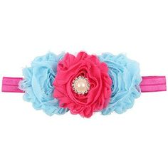 Take a look at this hot pink pearl flower headband on zulily today