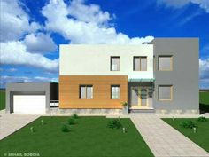 Casa IC 11 Proiect casa cu etaj moderna Bucuresti Home Fashion, Home Projects, Mansions, House Styles, Modern, Home Decor, Houses, Trendy Tree, Decoration Home