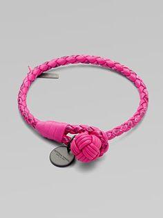 Bottega Veneta Leather Knot Bracelet