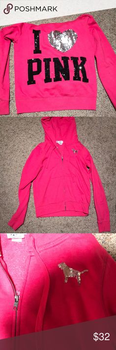 PINK Victoria's Secret jacket PINK Victoria's Secret jacket, has my initials written on the tag on the inside PINK Victoria's Secret Jackets & Coats