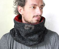 ON SALE Unisex cowl wool neck warmer scarf men Snock® in von jaffic