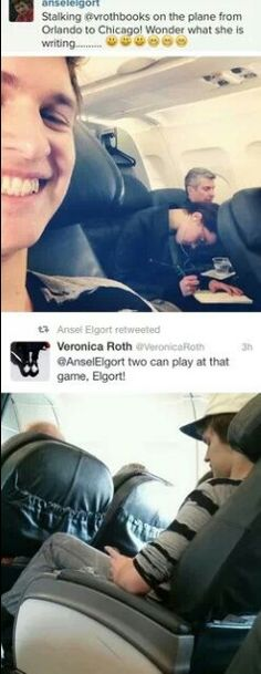 Veronica Roth and Ansel Elgort // if i was famous, this is all i would do all day