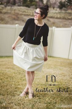 How to sew a leather skirt