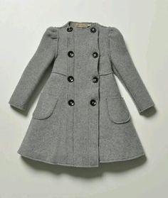 La Stupenderia Girls Grey Mathilde Wool Coat Love this designer! Little Girl Fashion, Little Girl Dresses, Toddler Fashion, Toddler Outfits, Kids Outfits, Kids Fashion, Girls Dresses, Latest Fashion, Trendy Fashion