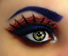 I love this look from @Sephora's #TheBeautyBoard http://gallery.sephora.com/photo/spider-woman-3371 Make it orange and Purple for a creepy halloween look!