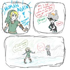 Naptillmorning:There's a MidLink week starting today! Most definitely my favorite brotp in the entirety of the Zelda franchise. I'm pretty sure this is how this scene went down in the game. And then this happened: