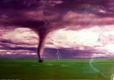 Tornado and Lightning Extreme Weather Poster 24x36