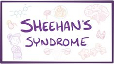 Sheehan's Syndrome - causes, symptoms, diagnosis, treatment, pathology Osmosis Androgen Receptor, Pituitary Gland, Disorders, Anatomy, Cancer, Learning, Youtube, School Stuff