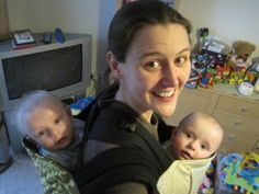 """A blog full of videos on how to babywear twins or """"tandem babywearing"""""""