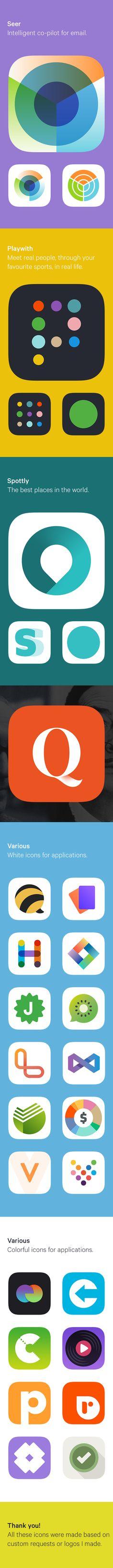 Flat iOS Icons on Behance