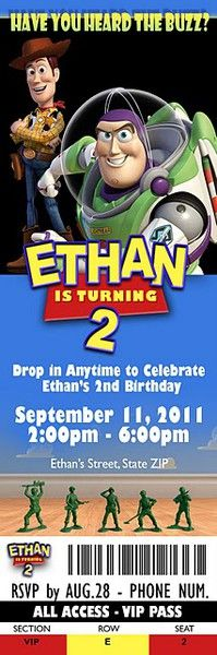 Toy Story Birthday Party Invite
