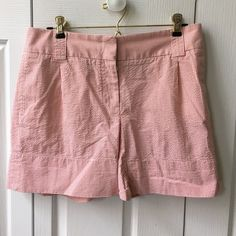 J. Crew Seersucker Shorts  Pink and white seersucker shorts from J. Crew. CityFit. Like new. 100% cotton. Adorable for a preppy summer! No trades, make an offer! J. Crew Shorts