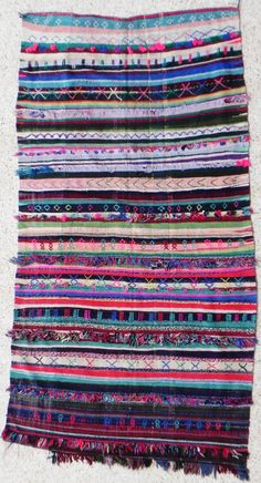 Rag  rug BOUCHEROUITE KILIM from Morocco called by BOUCHEROUITE, $329.00