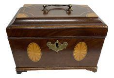 Antique English Regency Inlaid Mahogany Tea Caddy on Chairish.com Parcel Delivery, Palmyra, Tea Caddy, Hope Chest, Regency, Savannah Chat, 19th Century, English, Hare