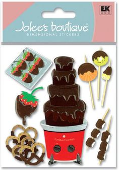 Desserts > Chocolate Fondue 3D Stickers - Jolee's Boutique: Stickers Galore  $4.39