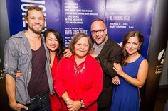 Nathan Detroit Barrett, Agnes Tong, Nicola Cavendish, Roy Surette and Ella Simon at Stanley Industrial Alliance Stage, Arts Club Theatre Company on South Granville for opening night of 4000 Miles!.