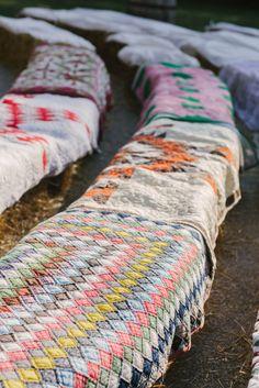 Quilt Covered straw bales | John & Kate | Barn at Cedar Grove | Morgan Worley Photography