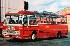 In 1974 Barton Transport acquired Lees Motorways of Beeston. Among the vehicles transferred was this old 1963 Duple (Northern) 'Continental' bodied AEC Reliance which was allocated no.1447 in the Barton fleet