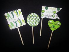 Volleyball Kelly Lime & Celery Greens Party by EmeraldGreenWaters, $5.00