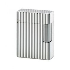 Ligne 1 Silver Vertical Lines Small Size #Lighter #Dupont