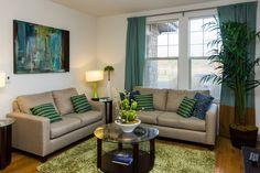Check out this fun and vibrant decor over at Avena Apartments in Thorntonton, Colorado. Sofa, Couch, Apartments, Colorado, Vibrant, Gallery, Fun, Furniture, Home Decor