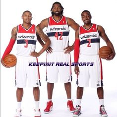 NBA:  Washington Wizards  John Wall, Nenê and Bradley Beal
