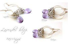 Lavender hoop earrings - via @Craftsy