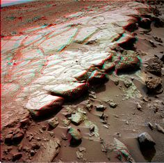 "WOW NASA Curiosity sol 441 NavCam color anaglyph using natural light as filters (Waypoint2 - Cooperstown) - ""Courtesy NASA/JPL-Caltech"" processing 2di7 & titanio44"