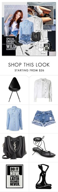 """""""Casual Denim Day"""" by rainie-minnie ❤ liked on Polyvore featuring Dorothy Perkins, Equipment, Yves Saint Laurent and Michael Kors"""