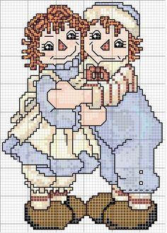 Schematic cross stitch Coppietta