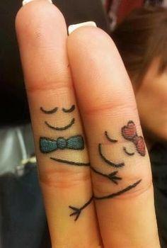 Una linda pareja de dedos, jejejeje