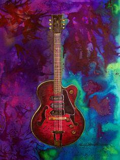 Abstract Guitar Painting Custom guitar portraits
