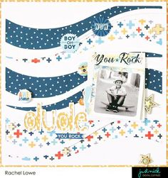 Hello everyone I hope this finds you all well! With three boys I am always on the look for boy/masculine cut files and this one is just fabulous! Ride the Wav Baby Scrapbook Pages, Kids Scrapbook, Scrapbook Sketches, Scrapbook Page Layouts, Photo Layouts, Kiwi Lane Designs, Scrapbook Storage, Kids Pages, Album