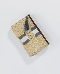 Dark Brown Leather Bound Monogram Clutch