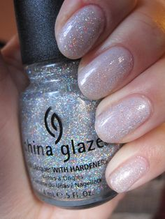 China Glaze - Fairy Dust (Nailed It): This is one that works better as a top coat to another base shade. It's your standard clear/glitter coat...no other color in the base.