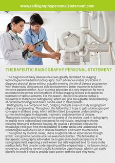 personal statement for radiography
